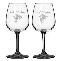 Atlanta Falcons 2-pc. Wine Glass Set