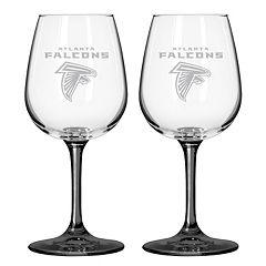 Atlanta Falcons 2 pc Wine Glass Set