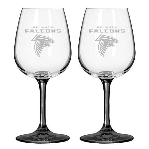 Atlanta Falcons 2-pc. Wine Glass Set