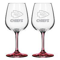 Kansas City Chiefs 2-pc. Wine Glass Set