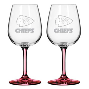 Kansas City Chiefs 2-pc. Wine Glass Set