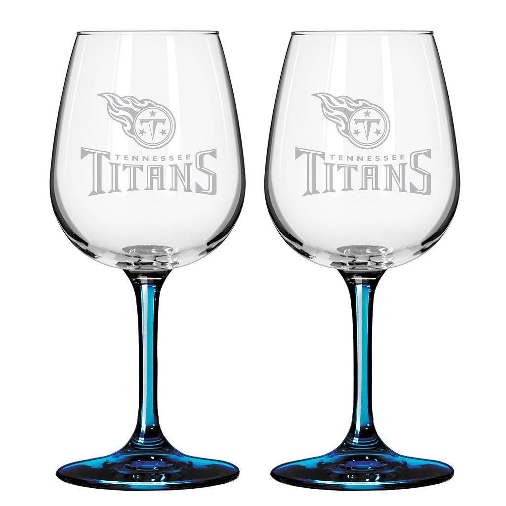 Tennessee Titans 2-pc. Wine Glass Set