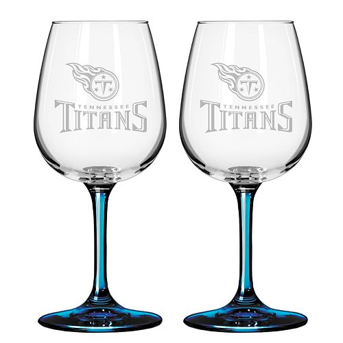 Tennessee Titans 2-pc. Wine Glass Set