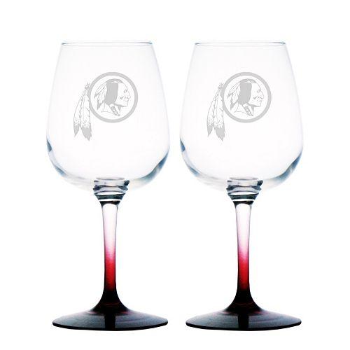 Washington Redskins 2-pc. Wine Glass Set
