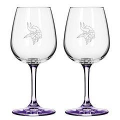 Minnesota Vikings 2-pc. Wine Glass Set