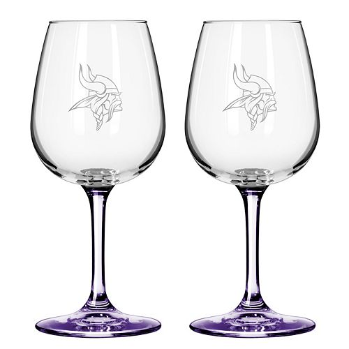 Minnesota Vikings 2-pc. Wine Glass Set