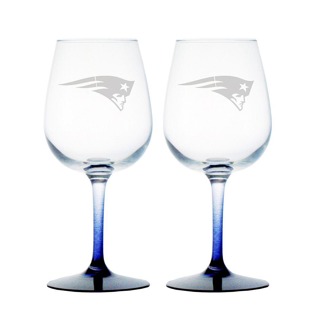 New England Patriots 2-pc. Wine Glass Set