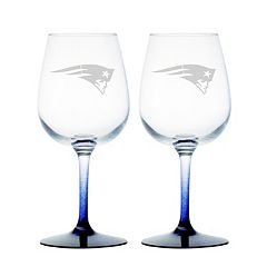 New England Patriots 2-pc. Wine Glass Set