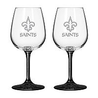 New Orleans Saints 2-pc. Wine Glass Set