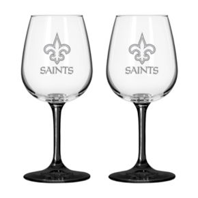 New Orleans Saints 2-pc. Wine Glass Set
