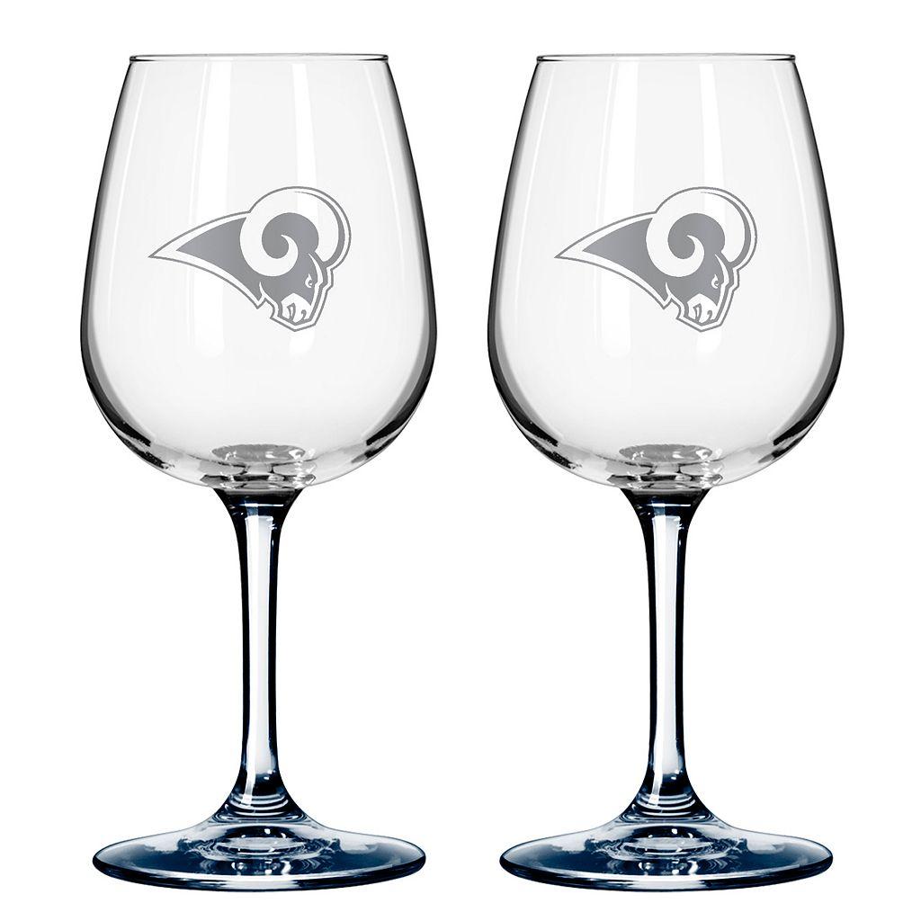 Los Angeles Rams 2-pc. Wine Glass Set