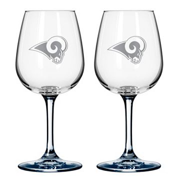 Los Angeles Rams 2-pc. Wine Glass Set