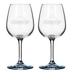 San Diego Chargers 2 pc Wine Glass Set