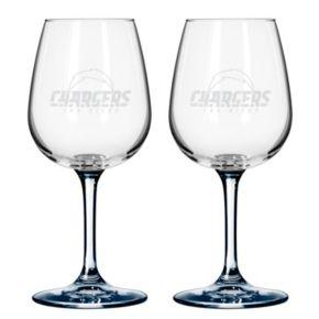 San DiegoChargers 2-pc. Wine Glass Set