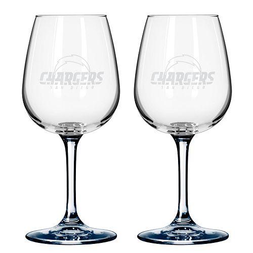 San Diego Chargers 2-pc. Wine Glass Set