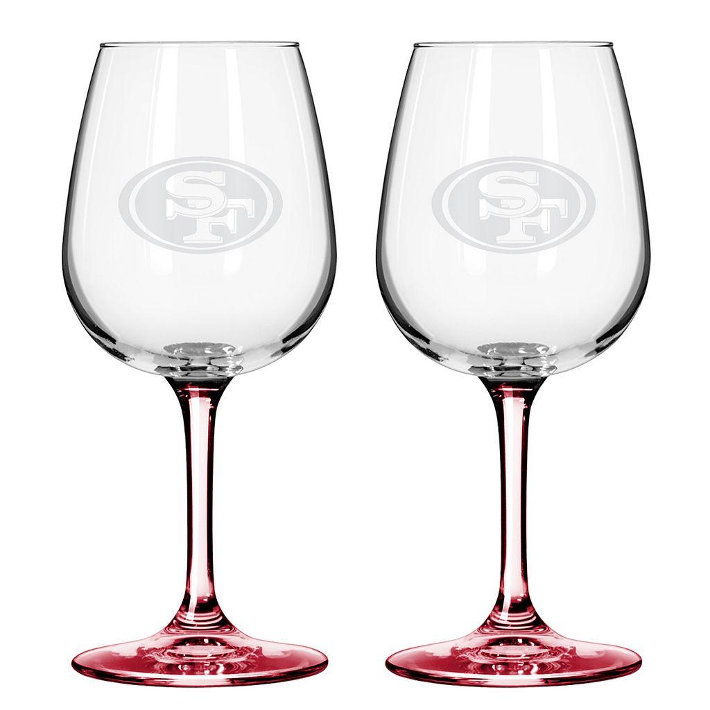San Francisco 49ers 2-pc. Wine Glass Set