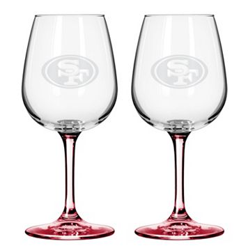 San Francisco 49ers 2-pc. Wine Glass Set