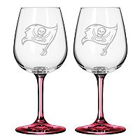 Tampa Bay Buccaneers 2-pc. Wine Glass Set