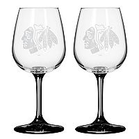 Chicago Blackhawks 2-pc. Wine Glass Set