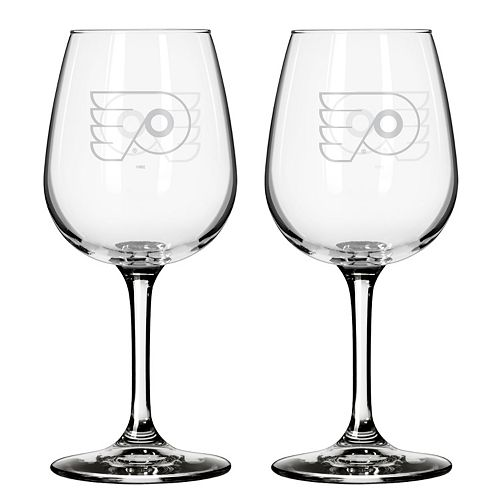 Philadelphia Flyers 2-pc. Wine Glass Set