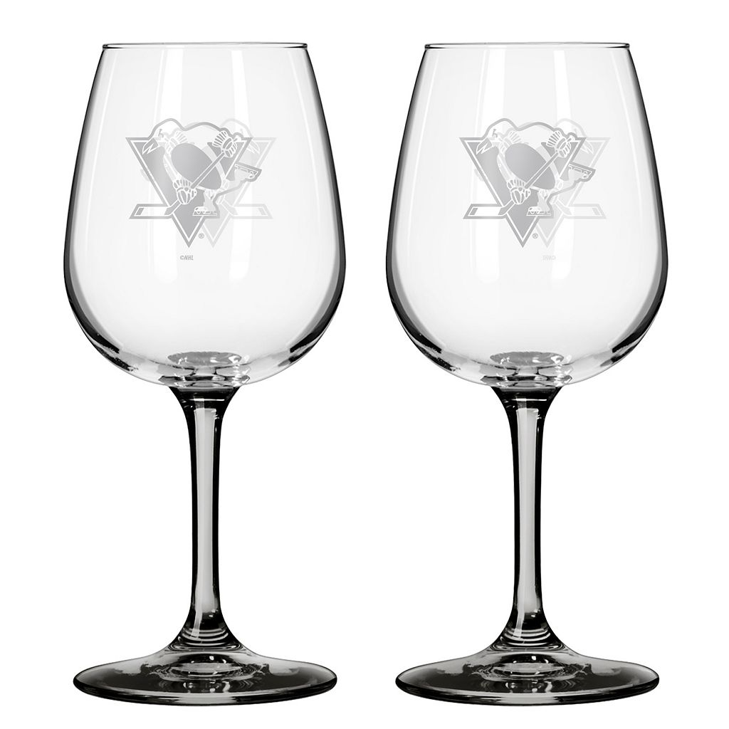 Pittsburgh Penguins 2-pc. Wine Glass Set