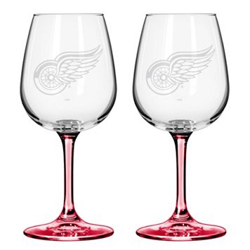 Detroit Red Wings 2-pc. Wine Glass Set