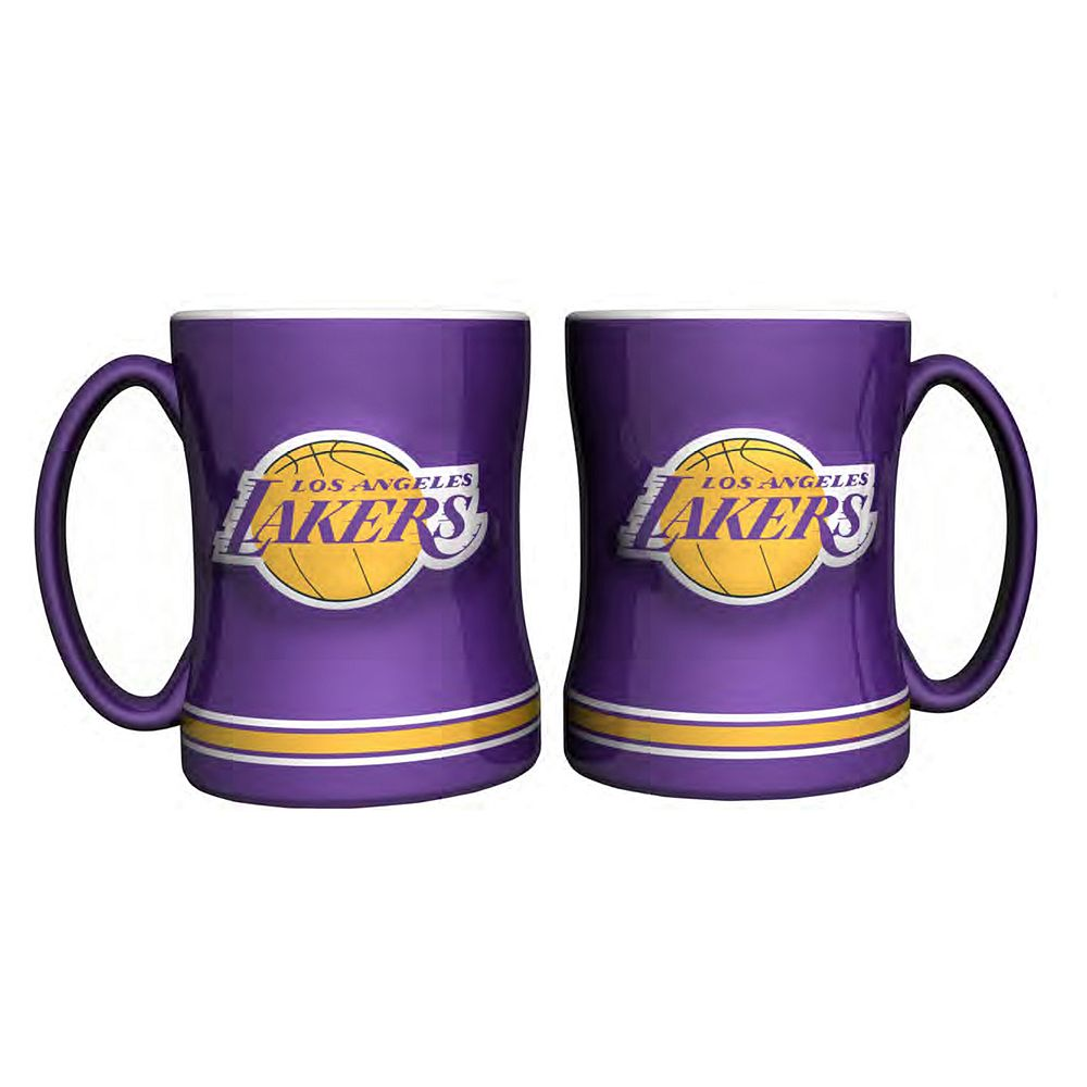 Los Angeles Lakers 2-pc. Relief Coffee Mug Set