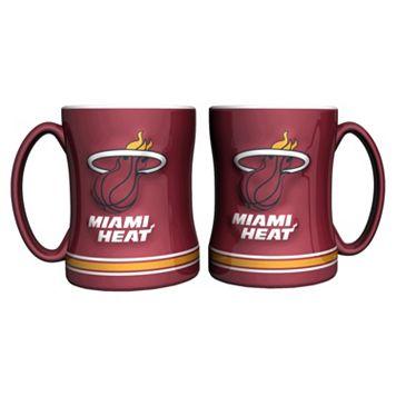 Miami Heat 2-pc. Relief Coffee Mug Set