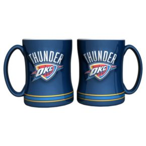 Oklahoma City Thunder 2-pc. Relief Coffee Mug Set