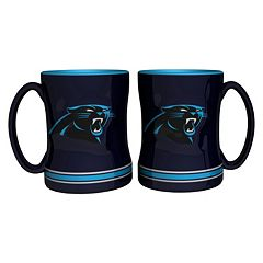 Carolina Panthers 2-pc. Relief Coffee Mug Set