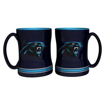 Carolina Panthers 2-pc. Relief Coffee Mug Set