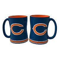 Chicago Bears 2 pc Relief Coffee Mug Set