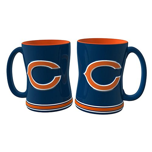 Chicago Bears 2-pc. Relief Coffee Mug Set