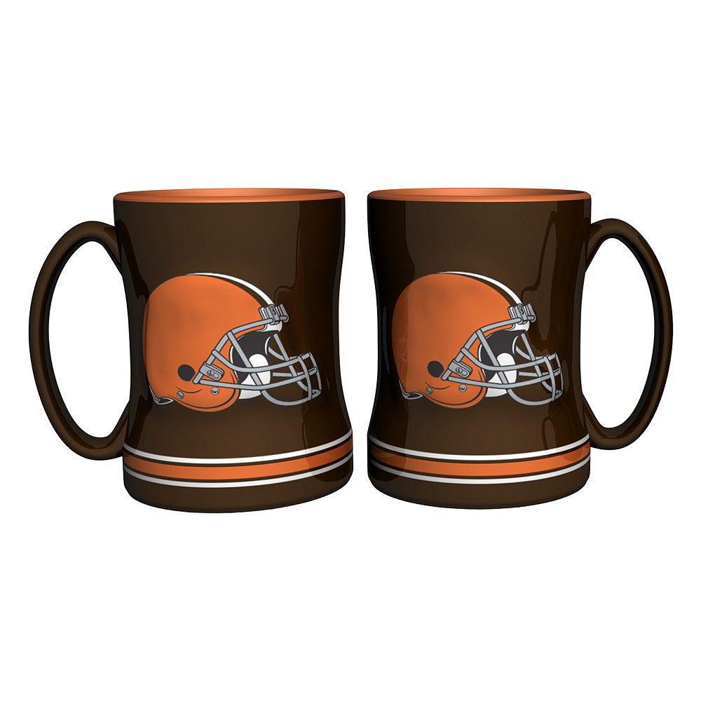 Cleveland Browns 2-pc. Relief Coffee Mug Set