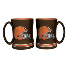 Cleveland Browns 2-pc. Relief Coffee Mug Set