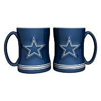 Dallas Cowboys 2-pc. Relief Coffee Mug Set