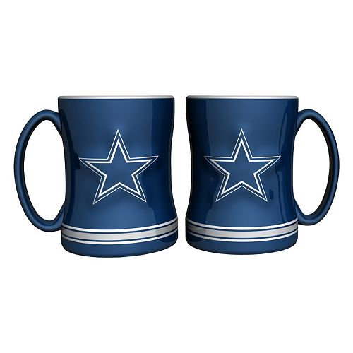Dallas Cowboys 2-pc. Relief Coffee Mug Set