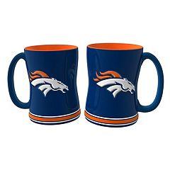 Denver Broncos 2-pc. Relief Coffee Mug Set