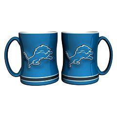 Detroit Lions 2-pc. Relief Coffee Mug Set