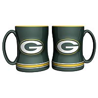 Green Bay Packers 2-pc. Relief Coffee Mug Set