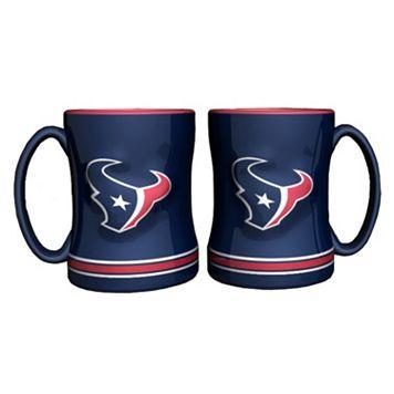 Houston Texans 2-pc. Relief Coffee Mug Set