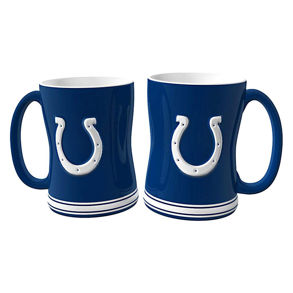 Indianapolis Colts 2-pc. Relief Coffee Mug Set