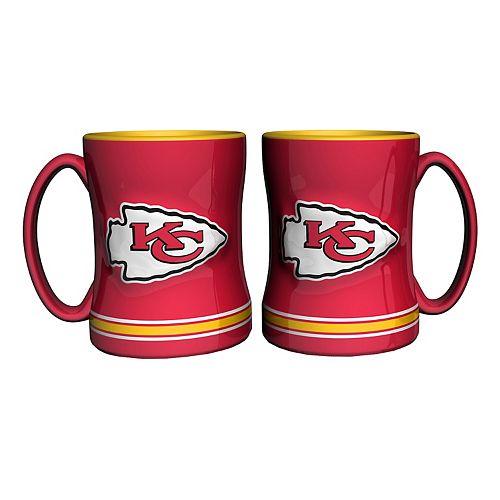 Kansas City Chiefs 2-pc. Relief Coffee Mug Set