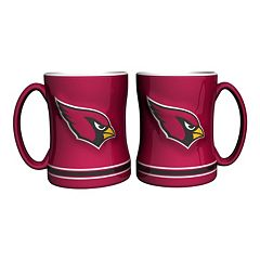 Arizona Cardinals 2 pc Relief Coffee Mug Set