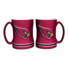 Arizona Cardinals 2-pc. Relief Coffee Mug Set