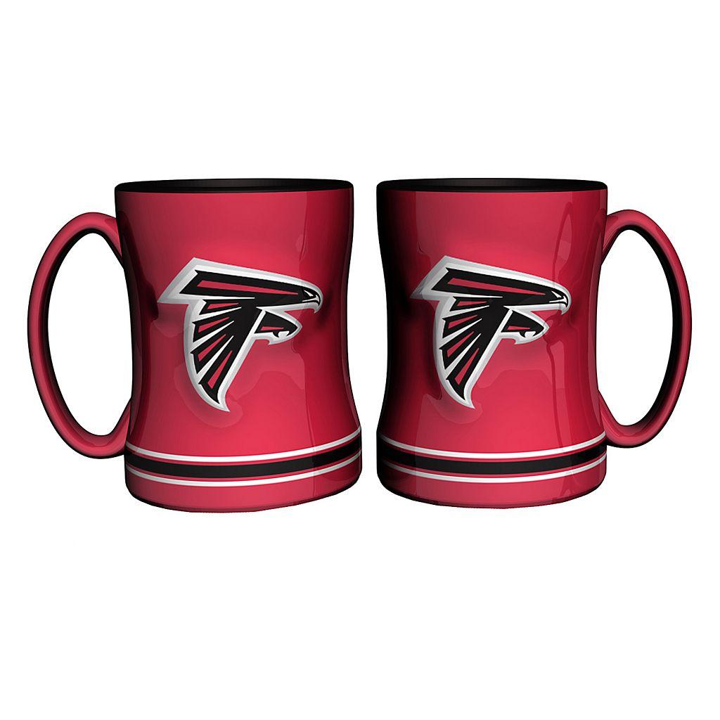 Atlanta Falcons 2-pc. Relief Coffee Mug Set