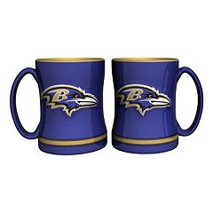 Baltimore Ravens 2 pc Relief Coffee Mug Set