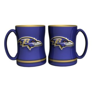 Baltimore Ravens 2-pc. Relief Coffee Mug Set