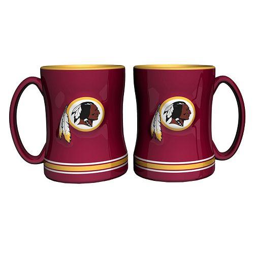 Washington Redskins 2-pc. Relief Coffee Mug Set
