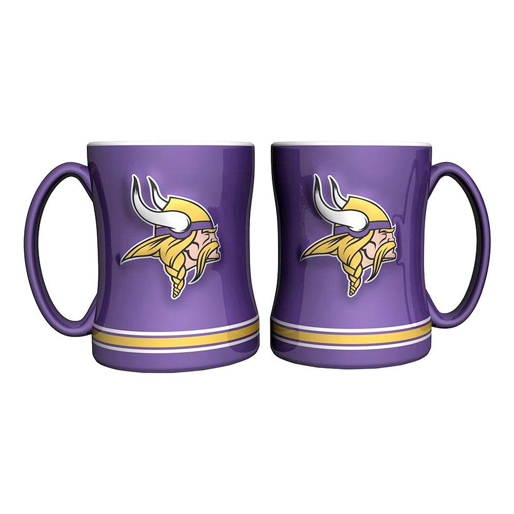 Minnesota Vikings 2-pc. Relief Coffee Mug Set